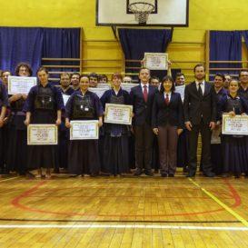 Egzaminy kyu kendo w AZS Gliwice 13 grudnia 2017